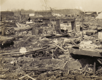 Damage from the Tri-State Tornado in Griffin, Indiana