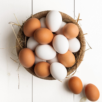 A Picture of a Basket of Eggs
