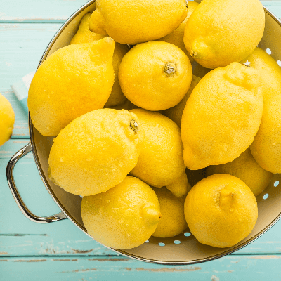 A basket full of lemons