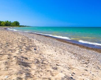 A picture of a beach along Lake Huron