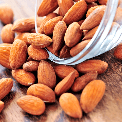 A Picture of a Bowl of Almonds