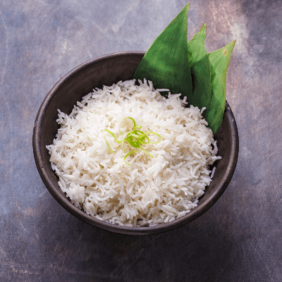 A Picture of a Bowl of White Rice
