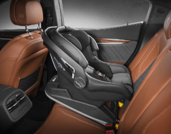 A picture of a car seat for a baby