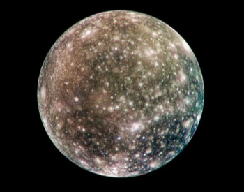 A color of Jupiter's moon Callisto taken by NASA Galileo spacecraft in May 20