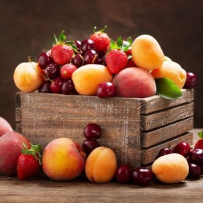 A Picture of Fruit in a Crate