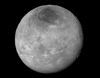 A wonderful detailed photo of Charon's surface.