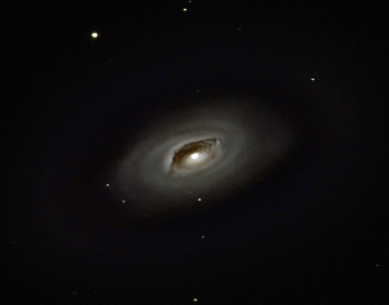 An amazing photo of the M64 Black Eye Galaxy shown from a distance