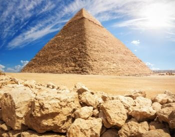 A picture of one of the Giza Pyramids