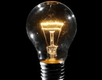 A picture of a incandescent light bulb