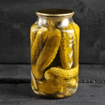 A Picture of a Jar Full of Pickles