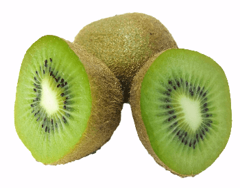A picture of a cut kiwi
