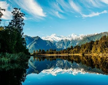 A picture of a lake that contains freshwater