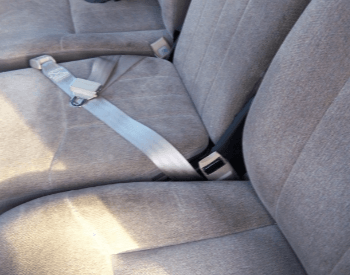 A picture of a lap seat belt