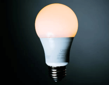 A picture of a dimmable LED light bulb
