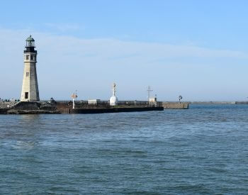 A picture of a lighthouse on Lake Erie