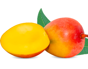 A picture of a cut mango