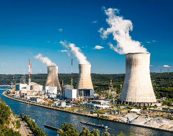 A picture of a nuclar power plant
