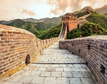 A picture of the Great Wall of China's long pathway