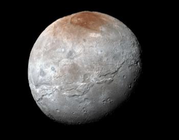 A photo of Pluto's moon Charon taken by NASA.