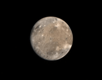A photo of Jupiter's moon Ganymede, taken by Voyager 1 on 3/4/1979.