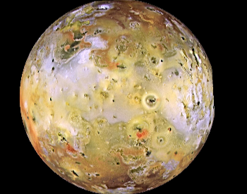 A full color full of Jupiter's Moon Io.