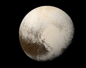 A photo of Pluto taken by the NASA New Horizons spacecraft in 2015.