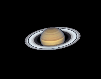 A beautiful photo of Saturn's rings by the NASA Hubble Space Telescope.