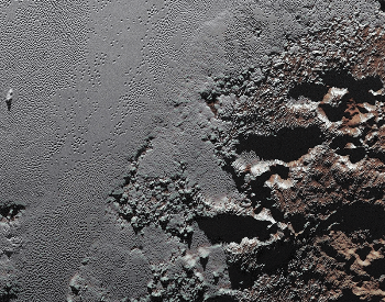 A photo of Pluto's surface taken by the NASA New Horizons spacecraft.