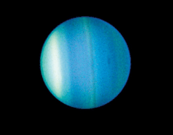 A photo of Uranus taken by the NASA Hubble Space Telescope.
