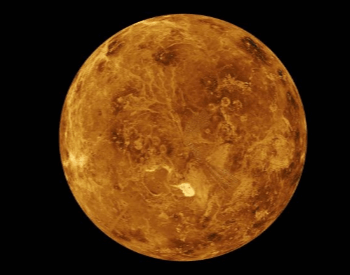 A picture of the planet Venus taken in 1994 by the Magellan Spacecraft