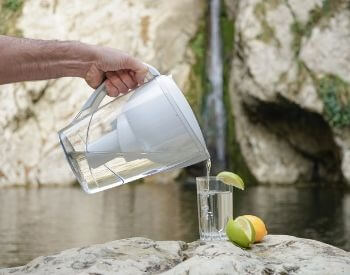 A picture of a pitcher that can filter water