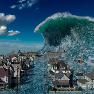 A picture of a Tsunami