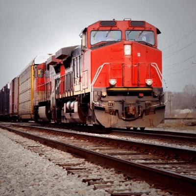 A Locomotive on a Train