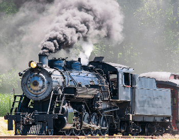 A picture of a steam powered train