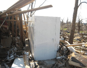 A tornado shelter that survived when the rest of the house didn't