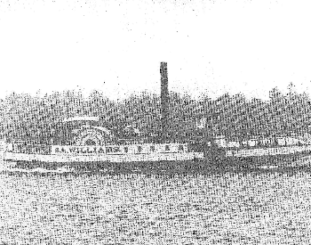 A picture of the side of a steamboat