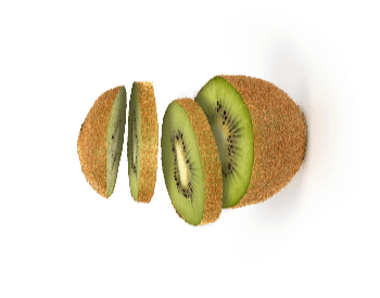 A picture of a sliced kiwi