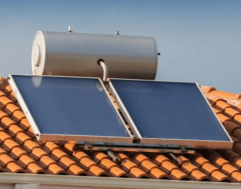 A picture of a residential solar water heater system