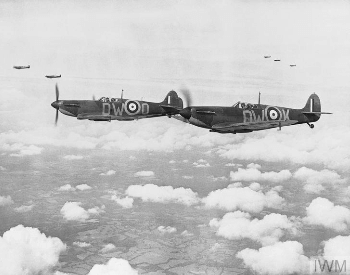 A picture of a squadron of Supermarine Spitfires
