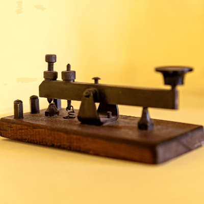 A picture of a telegraph machine part