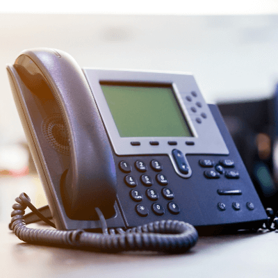 A picture of a desk telephone