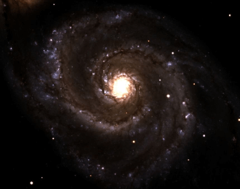 A topical photo o f the Whirlpool Galaxy