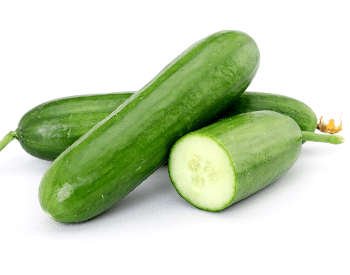 A picture of a whole cucumber