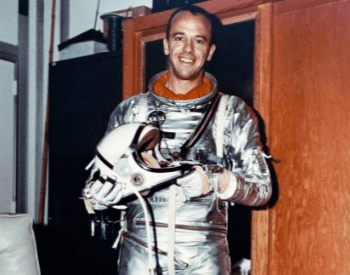 A photo of Alan Shepard in his flight suit before the Mercury-Restone 3 mission