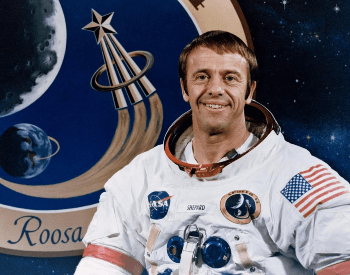 A photo of Alan Shepard, the first American in space