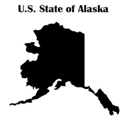 A Map of the U.S. state Alaska
