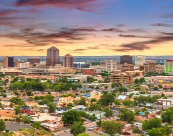 A picture of Albuquerque, the most populated city in New Mexico