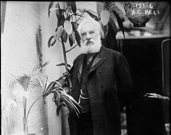 A picture of Alexander Graham Bell in his later years