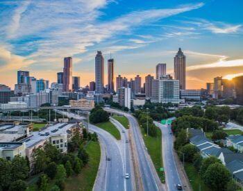 A picture of Atlanta, GA the state capital of Georgia