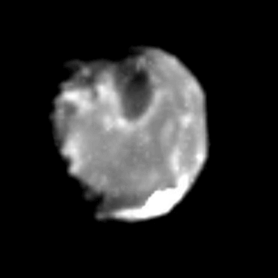 A Picture of Jupiter's Moon Amalthea